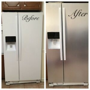 Transform Refrigerator Contact Paper Panel Overlay Cover