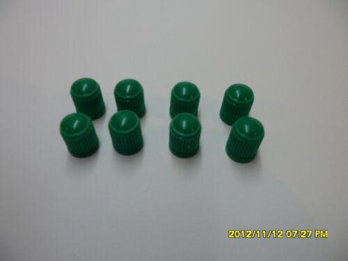 100 x Vert Foncé Plastique Voiture Tube /& Cycles Valve Dust Cap Neuf Dans Paquet