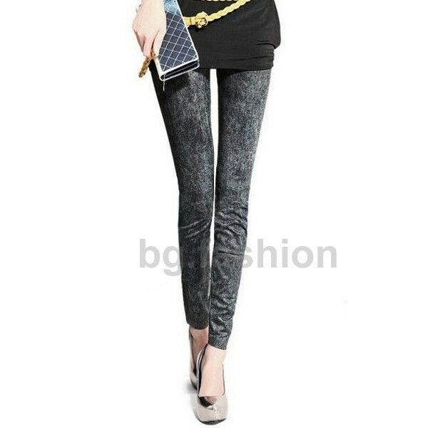 Sexy Women Denim Jeans Skinny Footless Leggings Tights Stretch Slim Pant Trouser