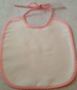 Details About Baby Bib Plain Infant Toddler Blank Embellish Decorate Diy Crafts Pink Blue