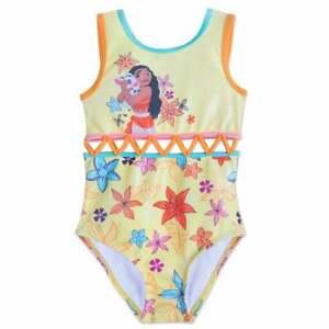 Disney-Authentic-Princess-Moana-amp-Pua-Swimsuit-Girls-Size-5-6-7-8-9-10