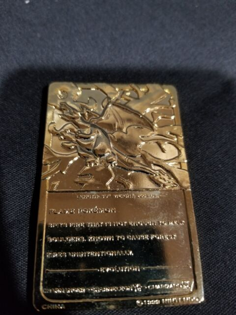 Charizard 6 23k Gold Plated Trading Card