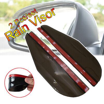 EKIND 2 Set Rear View Mirror Visor Rain Guard for Most Car Truck and SUV Transparent+ Black Transparent