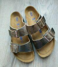 Details about Birkenstock Granada Soft Footbed Leather Sandals Tobacco EU 38R Women 7 7.5 M