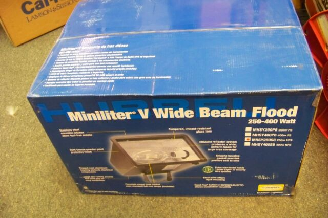 150 WATTS MULTI-VOLTS   M031 Hubbell MHS-Y150S8 Miniliter Wide Beam Floodlight
