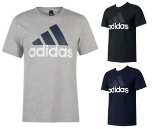Adidas-Men-039-s-Short-Sleeve-Essential-Logo-Graphic-Crew-Neck-T-Shirt