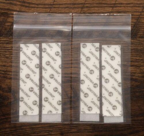 """VELCRO 4 pack 1/"""" x 4/"""" White Velcro Industrial Strength Medical Grade Strips"""