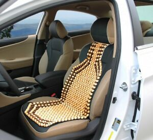 Massage Car Seat Cover Natural Wood Beaded Cushion Therapy Chair ...