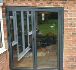 best sneakers cce9f c130e Details about Quality Aluminium French doors 2 panels Flush track