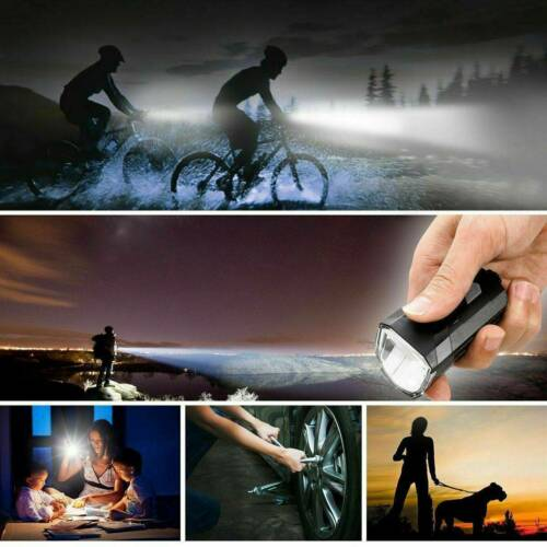MTB Bike Bicycle Cycling USB Rechargeable LED Head Front Light Rear Tail Lamp US