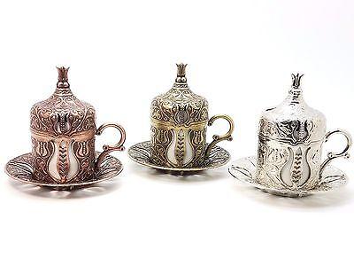 Ottoman Turkish Greek Arabic Coffee Espresso Guest Serving Cup Saucer Multi Sets