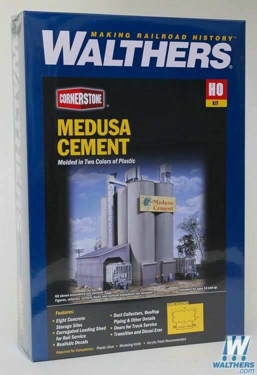 HO Walthers Cornerstone kit 933-3019  Medusa Cement Company  NIB