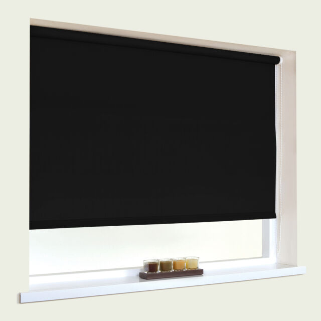 STRAIGHT EDGE ROLLER BLINDS - METAL TUBE - STRONG FITTINGS - 160cm DROP