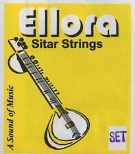 Sitar Strings, Ellora, complete set with sympathetic (tarabh) strings