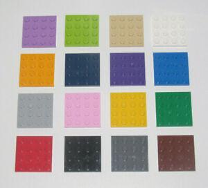 Lego-Construction-Plaque-4x4-Plate-Platten-Choose-Color-ref-3031-NEW