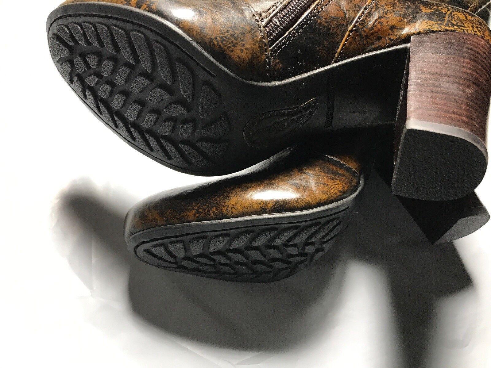 New Born Crown Lissa Tan Brush Off Leather damen damen damen Knee Stiefel  250 Größe 6 N01316 d28da1