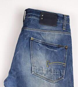 G-Star-Raw-Herren-Coder-Gerades-Bein-Jeans-Groesse-W34-L32-ASZ291