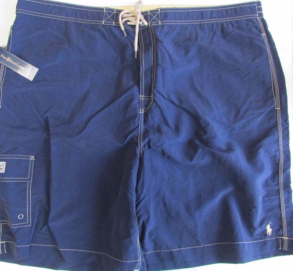 NWT Polo Ralph Lauren Cargo Swim Trunks Shorts Navy bluee Size 4XB BIG