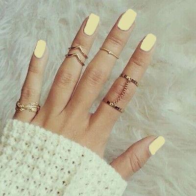 Une série de bague en métal Doré Argenté Phalange bout de doigt Nouveau!