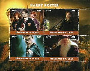 Topical Stamps 2019 New Style Chad 2018 Mnh Harry Potter Hermione Granger Dumbledore 4v M/s Movies Film Stamps Animation, Cartoons