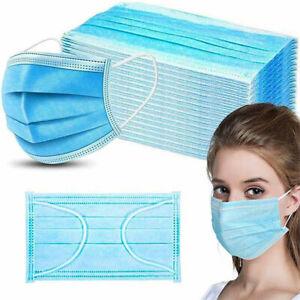 100x Mundschutz Maske Gesichtsmaske Filtermaske 3 Lagig Einweg OP Maske