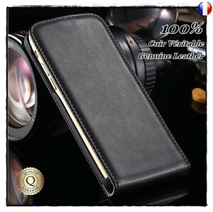 Etui-Clapet-Cuir-Veritable-housse-coque-Genuine-Leather-Flip-case-SONY-Xperia-XA