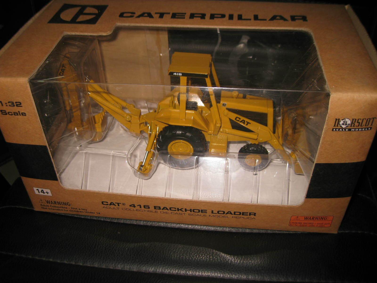 CAT CATERPILLAR 1 32  NORSCOT 416 BACKHOE LOADER BLOCK C LOGO  55271  negozio STOCK