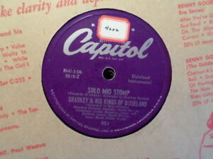 CAPITOL 78 RECORD 951/SHARKEY KINGS OF DIXIELAND/SOLO MIO STOMP/IN THE MOOD/ EX