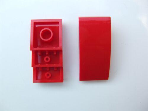 2 x Lego brique rouge avec nœud 2x4-4613174 pièces et morceaux