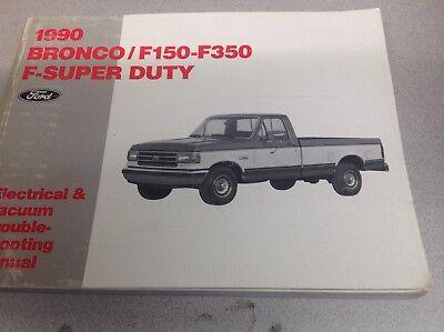 1990 Ford F 150 F 250 F 350 F250 F350 Bronco Wiring Diagrams Shop Manual Ewd X Ebay