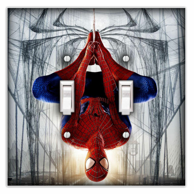 Spiderman Decorative Double Toggle Light Switch Cover Plate