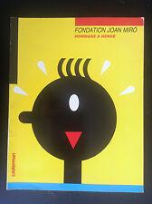 Fondation Joan miro Hommage à Hergé 1986 BE+ Tintin