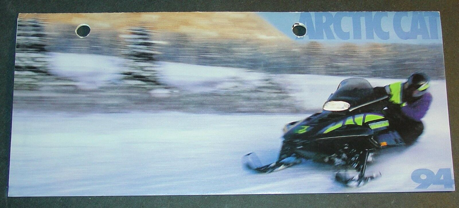 1994 ARCTIC CAT SNOWMOBILE FULL LINE SALES BROCHURE 4  x 8 1 2    (044)