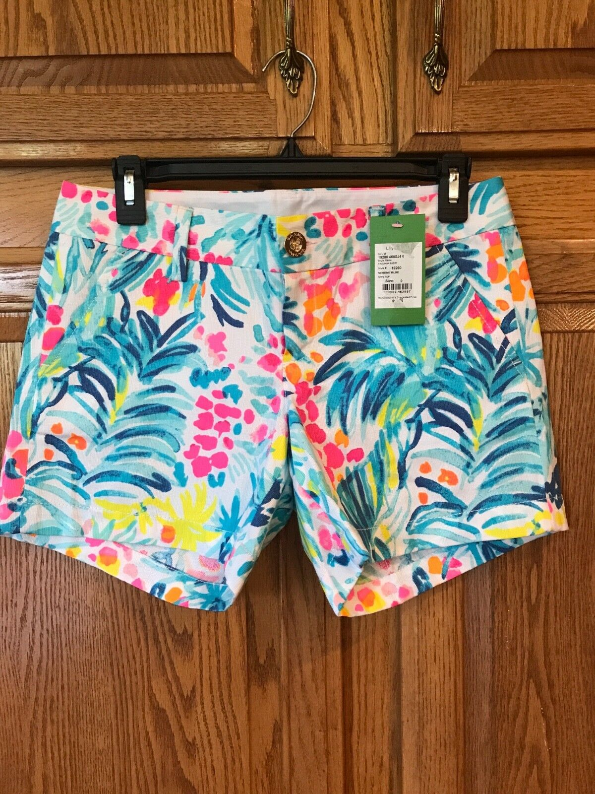 Lilly Pulitzer Callahan Shorts Size 0 Serene bluee
