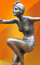 ART DECO BRONZE CON BRIO BRONZE STATUE SCULPTURE DANCER HOT CAST FIGURINE FIGURE