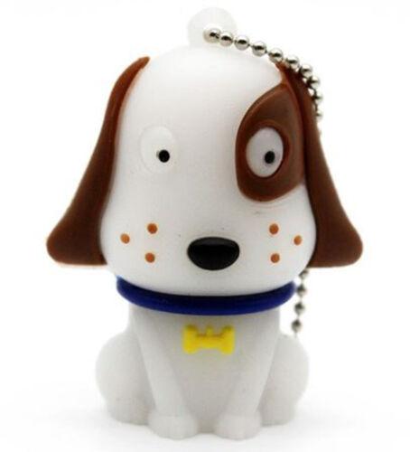 1pc 16GB Brown and White Dog USB Flash Thumb Drive USA Shipper