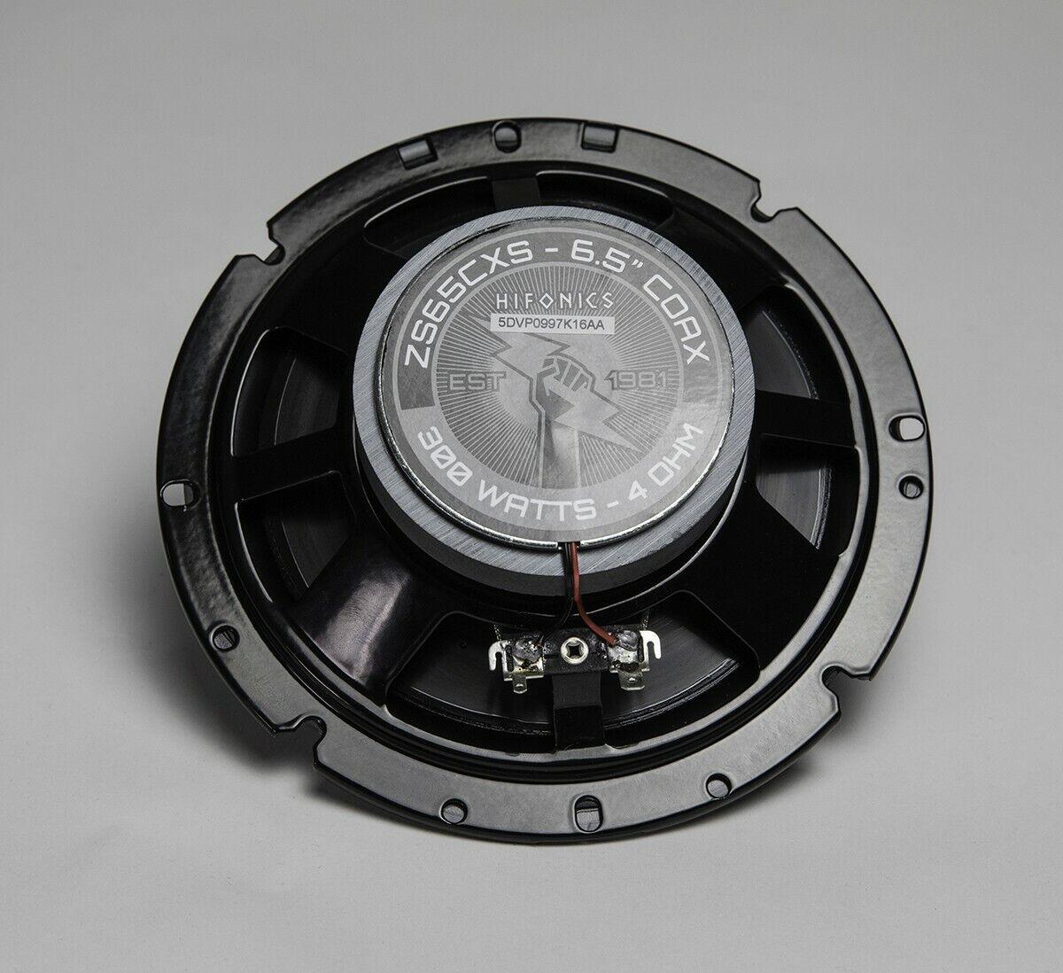 "Pair Hifonics ZS65CXS 6.5/"" 600 Watt Shallow Mount Car Stereo Speakers"