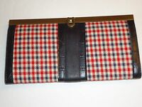 Ladies Ireland Framed Clutch,red Plaid & Croco, Style433