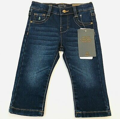 NWT Mayoral Baby Boys Sizes 6 /& 9 months Blue Denim Pants #2553