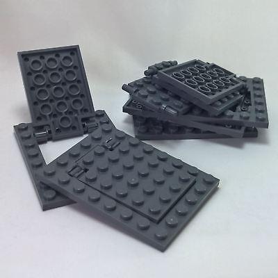 NEW Lego Dark Bluish GRAY HINGE BRICKS 1x4 Swivel Lot//6