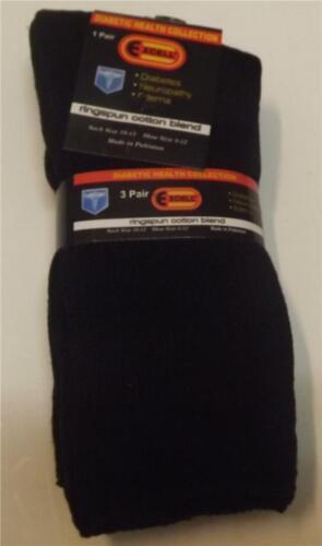 Diabetic Socks 3 Pairs Of Mens Sock Size 10-13 COLOR BLACK