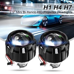2X-2-5-039-039-POLLICI-AUTO-LHD-FARI-XENO-BIXENON-LENTICOLARE-HID-H1-H7-H4-PROIETTORE