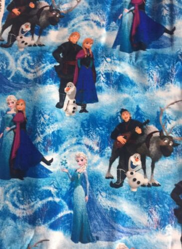 """Fabric//Yardage ~ Disney's""""Frozen Character Scenic""""' ~ CP51877  1 Yd /& 26 Inches"""