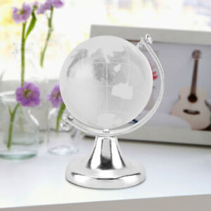 Glass Earth Globe World Map Round Classroom Geography Kids Education Decor Gift