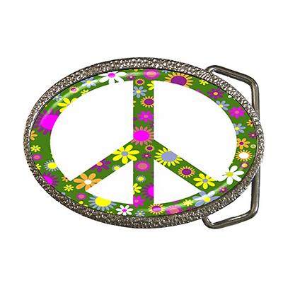 Logico Pace Firmare Simbolo Flower Power Fresco Retrò Fibbia Della Cintura-fantastico Regalo Articolo-mostra Il Titolo Originale