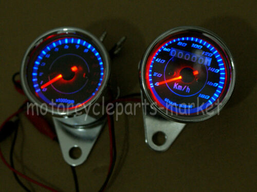 Motorcycle Odometer Speedometer Tachometer LED For Yamaha SR XV RX Cafe Racer