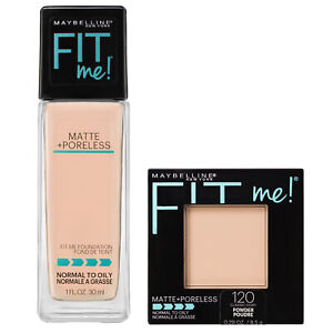 NEW Maybelline FitMe Matte Poreless Foundation + Pressed Powder Classic Ivory