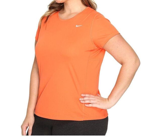 ea1490e02 Nike Women's Dri-Fit Miler UV Plus Extended Size Top Shirt Size 1X 2X 3X