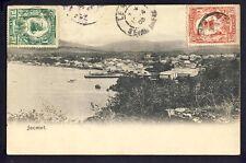 cpa RARE Cachet Port au Prince HAÏTI en 1905 JACMEL La Rade à Mr. LOEVENBRUCK