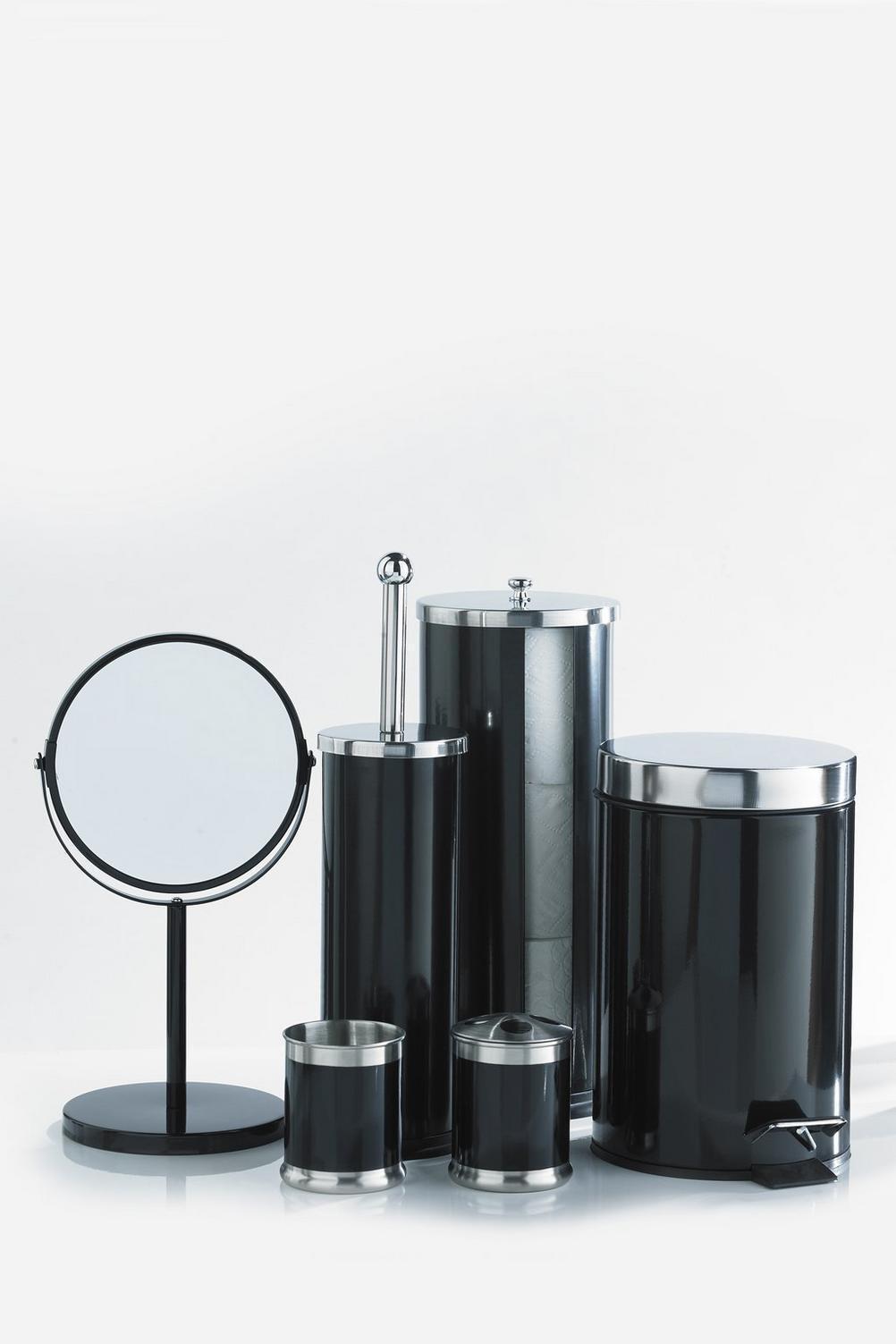 6 pezzi Set di di di accessori da bagno nero 3c879e